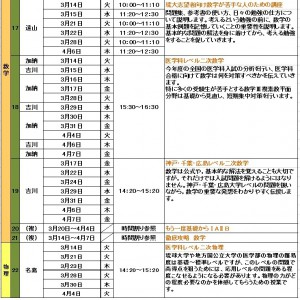 那覇本校過卒生【春期講習限定スペシャル講座】3